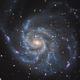 Messier 101, NGC 5457 - The Pinwheel Galaxy in HaRGB,                                SoundIdea