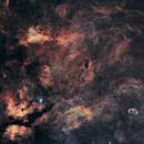IC 1318 Sadr Region - NGC 6888 Crescent Nebula 20210524 7200s SHO 01.4.2,                                Allan Alaoui