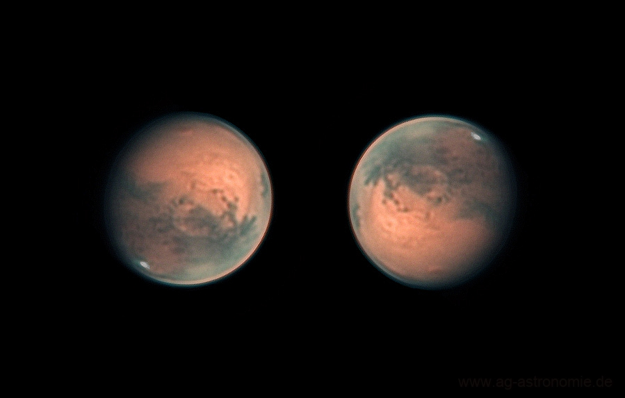 Mars - Olympus Mons and dust storm on 22.11.2020,                                Henning Schmidt