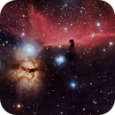 IC434 - Horse Head and Flame Nebulae,                                Sabin Fota