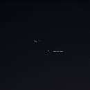 Jupiter and Saturn 12-8-2020 1800 hours 85 mm lens,                                Van H. McComas