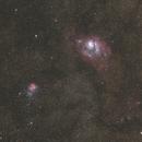 M20 & M8 wide field of view,                                Kos Coronaios