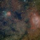 Messier 8, 20 & 21 - Nébuleuses de la Lagune et de la Trifide,                                grizli21