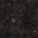 NGC 7023 widefield with Iridium flare,                                Fritz