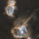 IC 1805 Heart and IC 1848 Soul Nebula,                                lamlik