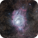 Shell in the pebbles: Messier 8, Lagoon Nebula,                                Todd
