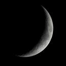 2 day old moon @1200 mm,                                Eddy Cochez