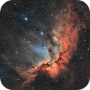 NGC 7380 - Wizard Nebula (SHO),                                Frank Breslawski