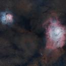 Lagoon and Trifid Nebulas,                                Petar_Babic