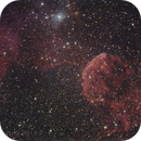 "IC443, the ""Jellyfish"" Nebula in Gemini, with  APO130, good sky, quite long exposure,                                Luigi Fontana"