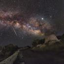 The Milky Way and a Meteor,                                Gianluca Belgrado